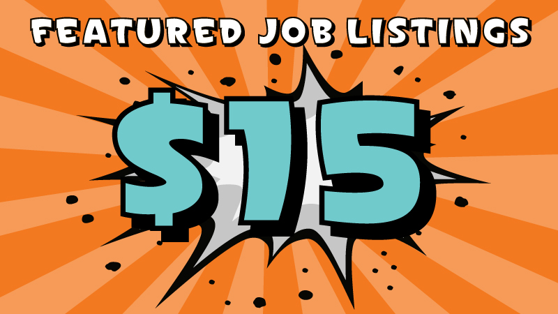 featured animation job listing for  15  standard listing